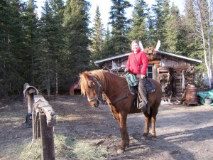 Salmon Berry Tours owner Candice atop a mode of Alaskan transport