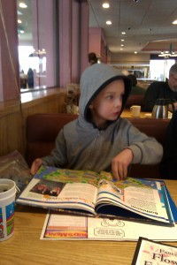 AK Kid orders his own breakfast at the Village Inn on Northern Lights Blvd. in Anchorage
