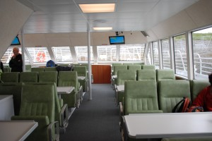Interior cabin of Kachemak Voyager, the new fast ferry owned by Seldovia Village Tribe