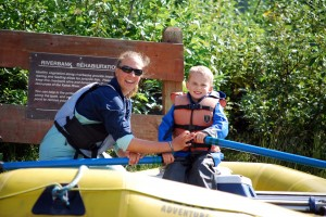 AK Kid takes a turn at the oars with Alaska Wildland Adventure guide Rachel