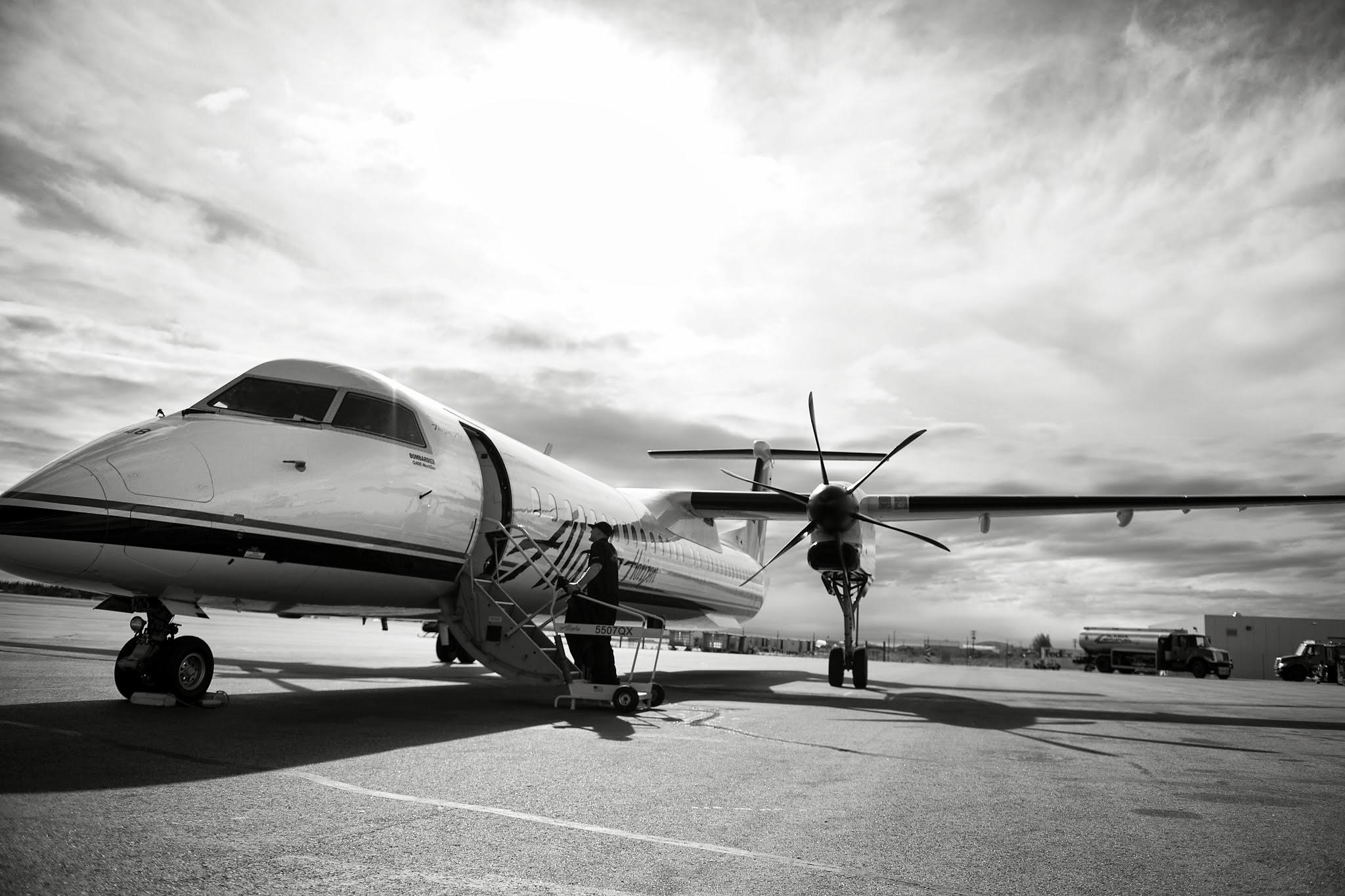 Alaska Airlines And The Bombardier Q400 What Families