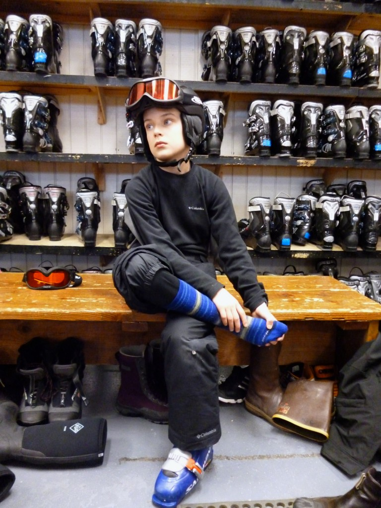 Allow plenty of time to gear up before your ski lesson. Erin Kirkland/AKontheGO