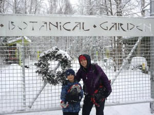 The Alaska Botanical Garden leads wintertime snowshoe hikes around their Anchorage facility.