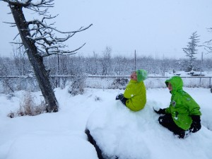 It's fun to run around the Alaska Wildlife Conservation Center, especially when there's snow on the ground!
