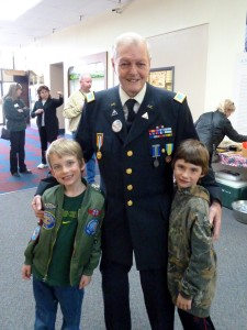 Alaska Veteran and AK Kids meet at the grand opening of the Alaska Veterans Museum in 2011.
