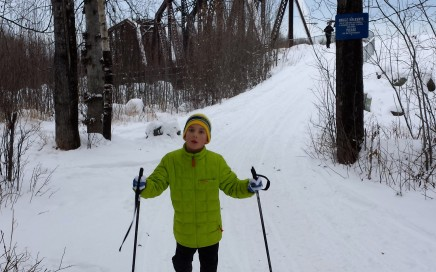 Skiing the simple trails of Talkeetna on a chilly winter day.