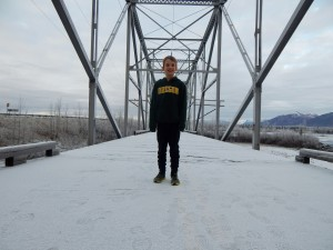 AK Kid wears sneakers and a sweatshirt. In December. In Alaska.
