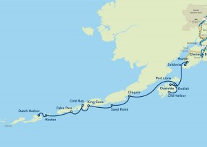 The Alaska Marine Highway System's Southwest route. We're on it. [image AMHS]