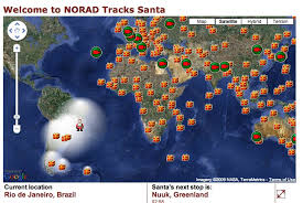 Watch the progress of Santa Claus on Christmas Eve with NORAD!