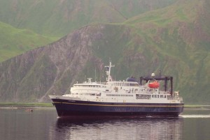 "The MV Tustamena, or ""Trusty Tusty"" will be our vessel. [image Unalaska/Dutch CVB]"