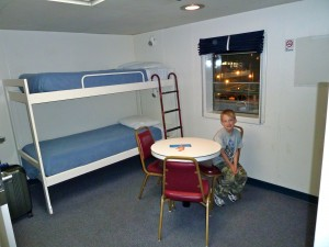 Alaska Marine Highway ferry staterooms are a popular choice for families.