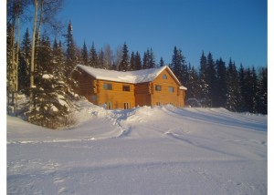 Enjoy a panoramic view and lots of space to roam at A Taste of Alaska Lodge in Fairbanks.