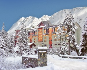 The Alyeska Hotel is not only beautiful, it comes with a pool, restaurants, and lots of amenities for the family. Image courtesy Alyeska Resort