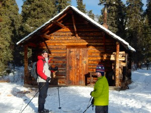 Savage Cabin is a kid-friendly goal for a family ski in Denali National Park. AKontheGO/Erin Kirkland