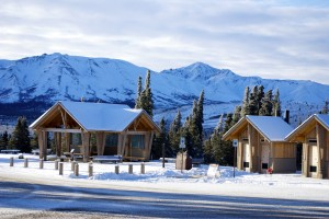 Mountain Vista Trail at Mile 12 of the park road features ample space for skiing or snowshoeing. AKontheGO/Erin Kirkland