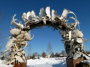 Stop by the Fairbanks Visitors Bureau and stand under the antler arch! Erin Kirkland/AKontheGO