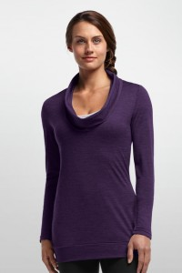 The Isis is a sleek pullover that looks great with a cami underneath. Image courtesy Icebreaker