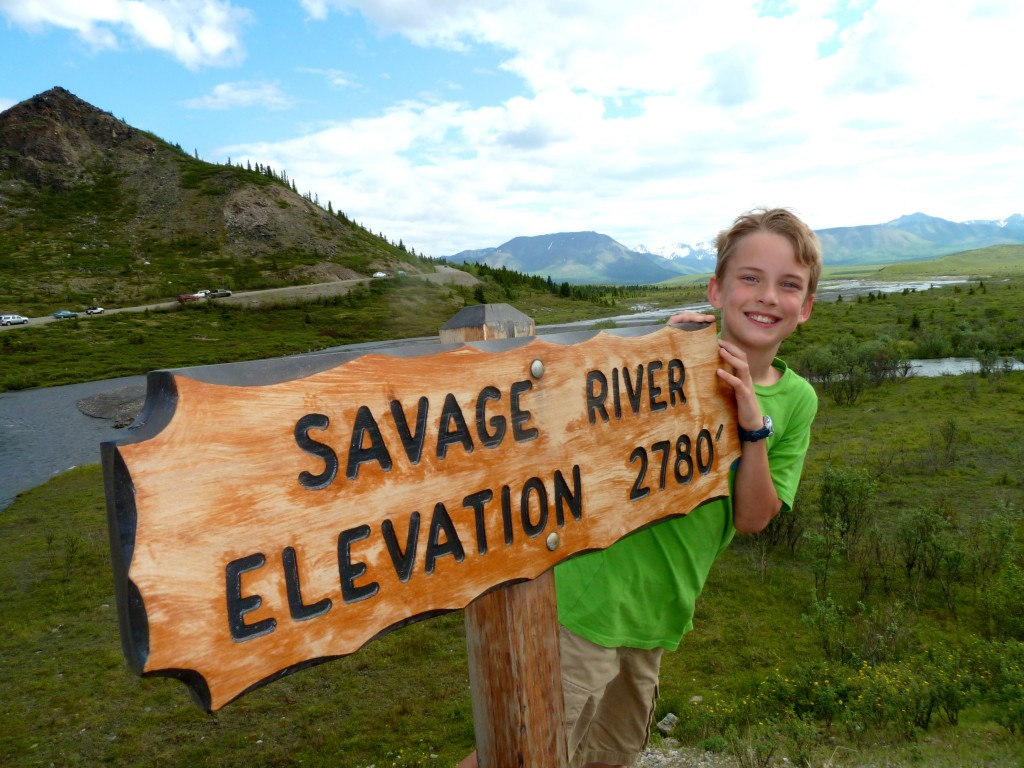 AK Kid at Savage River in Denali National Park. Erin Kirkland/AKontheGO