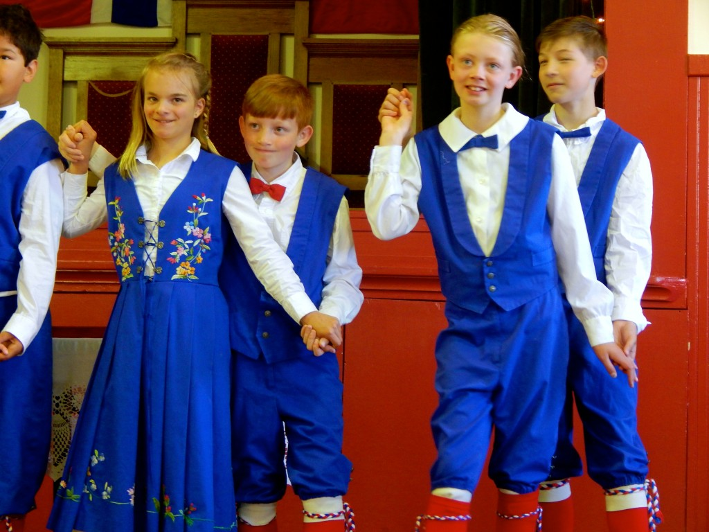 Petersburg youngsters show off their traditional costumes at the Sons of Norway Hall. Erin Kirkland/AKontheGO