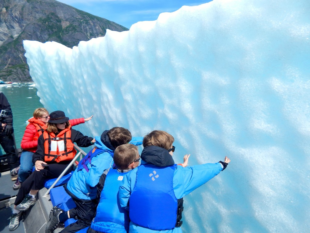 Touching an iceberg is touching Alaska's ancient history. Erin Kirkland/AKontheGO
