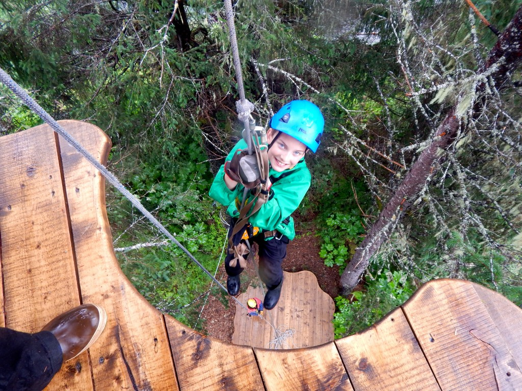 The Kyocera DuraForce even went rappelling and zip lining in Seward! Erin Kirkland/AKontheGO