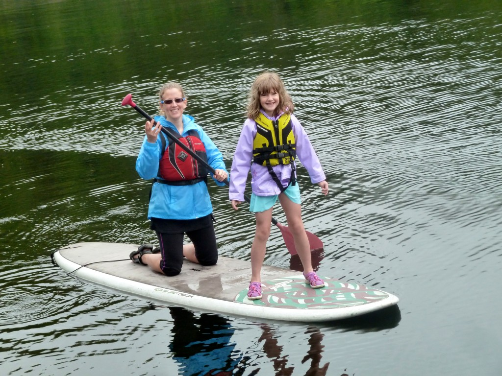 Paddleboarding mania with mom! Small ship cruising allows for independent exploration. Erin Kirkland/AKontheGO