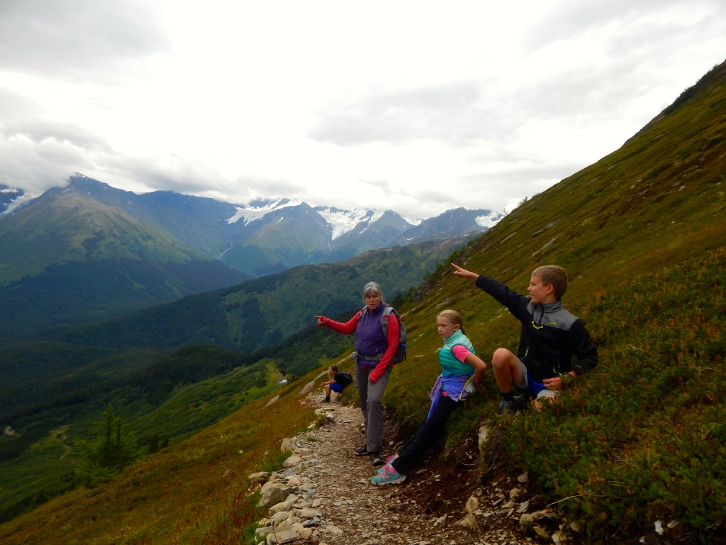 Counting glaciers from Alyeska Resort's North Face Trail. Take the trail up and receive a free tram ride down. Erin Kirkland/AKontheGO