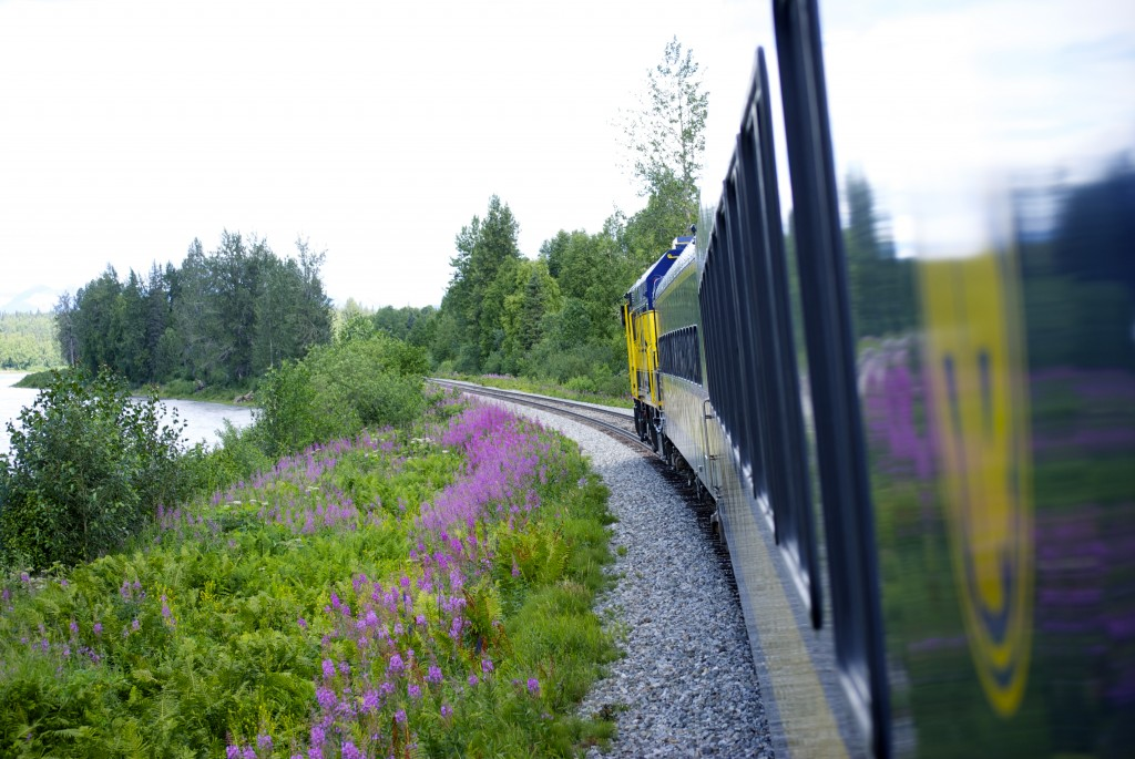 Traveling along the Susitna River, hoping for a glimpse of Denali. Erin Kirkland/AKontheGO