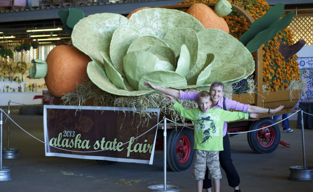 Big cabbages, big food, and big family fun at the Alaska State Fair. Erin Kirkland/AKontheGO
