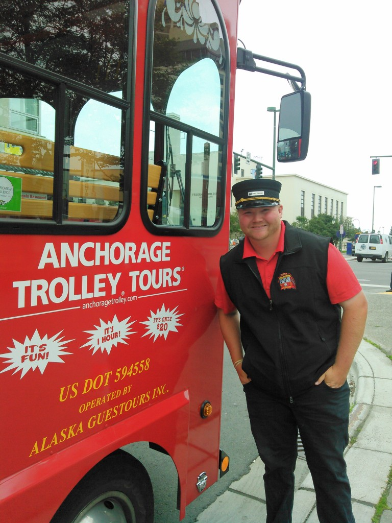 Pick up an Anchorage Trolley Tour at the corner of 4th and F street for a one-hour drive through historic Anchorage. Erin Kirkland/AKontheGO