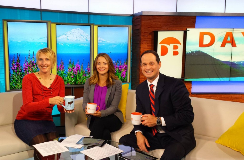 Erin Kirkland with the Daybreak team of Megan Mazurek and James Gaddis.