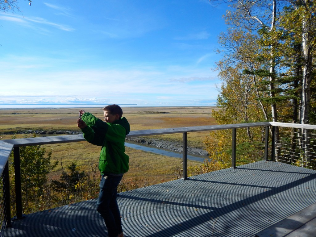 Recording sounds at Campbell Creek Estuary Natural Area in Anchorage. Erin Kirkland/AKontheGO