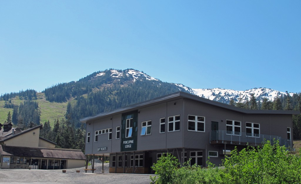 The new Porcupine Day Lodge at Eaglecrest Ski Area will be ceremoniously opened on Saturday, September 19. Image courtesy Eaglecrest Ski Area.