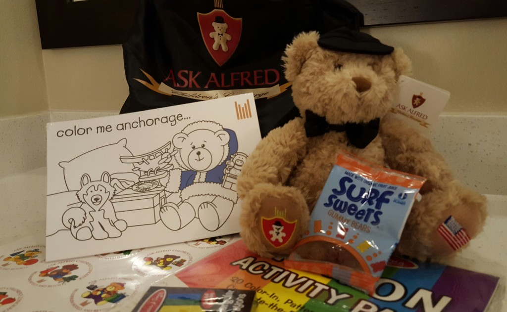 "Kids can receive an ""Ask Alfred"" pack of goodies at the Lakefront Anchorage. Erin Kirkland/AKontheGO"