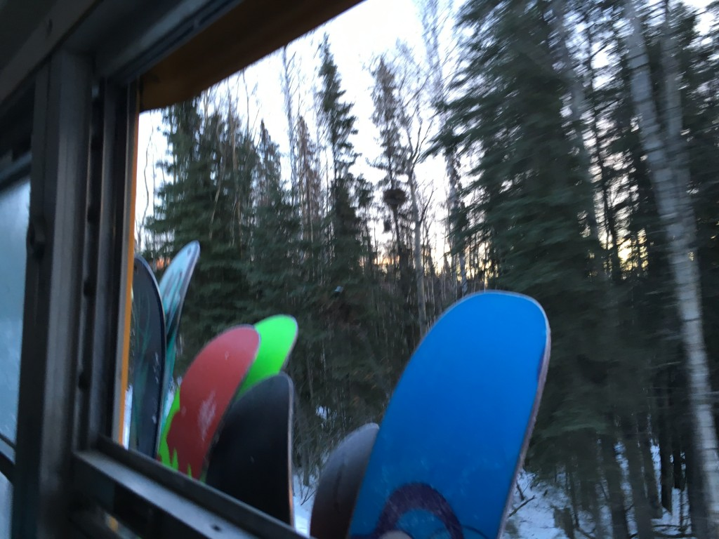 Pop the boards in the rack and ride to the next run in warm comfort. Mariah Brashar/AKontheGO