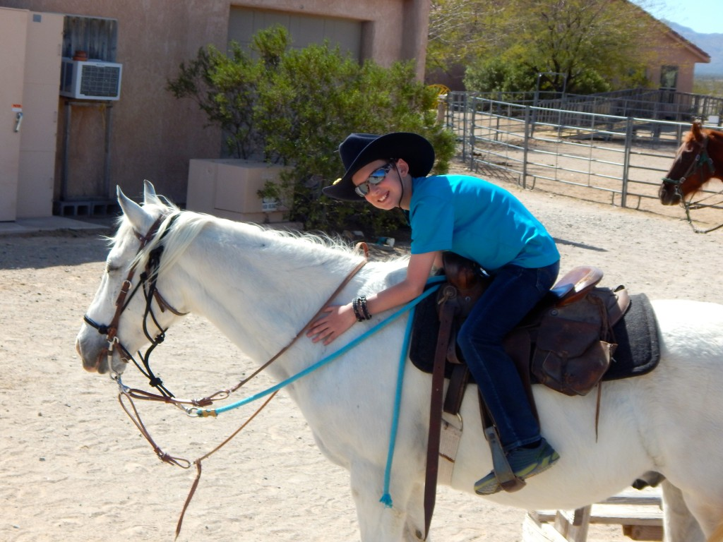 A very satisfied cowboy and his horse. Erin Kirkland/AKontheGO