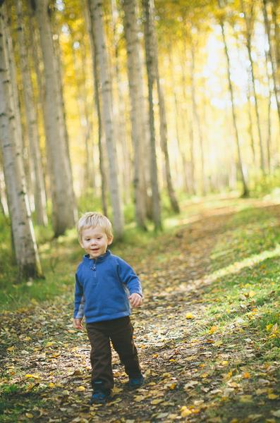 Jen Ostler's son walks a trail while camping with his parents. Image by Jen Ostler