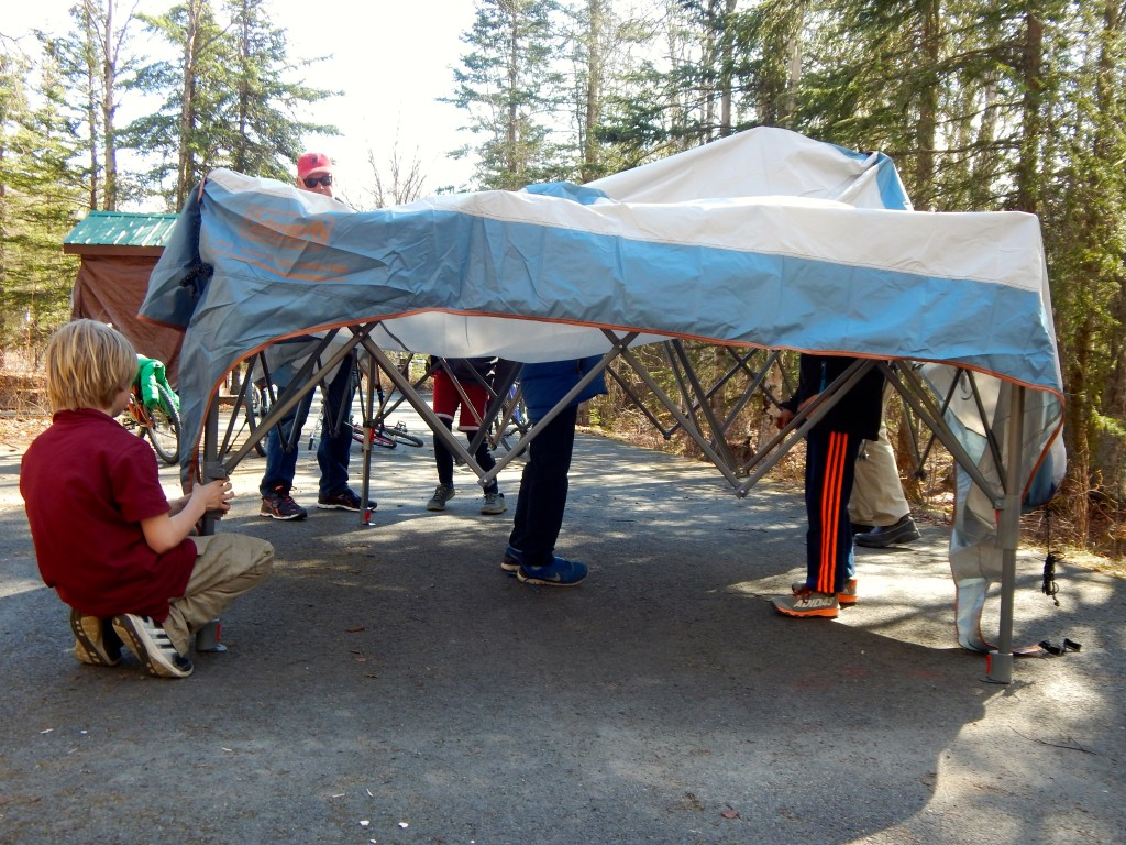 This Coleman All Night Shelter was simple to set up and even easier to take down. Erin Kirkland/AKontheGO