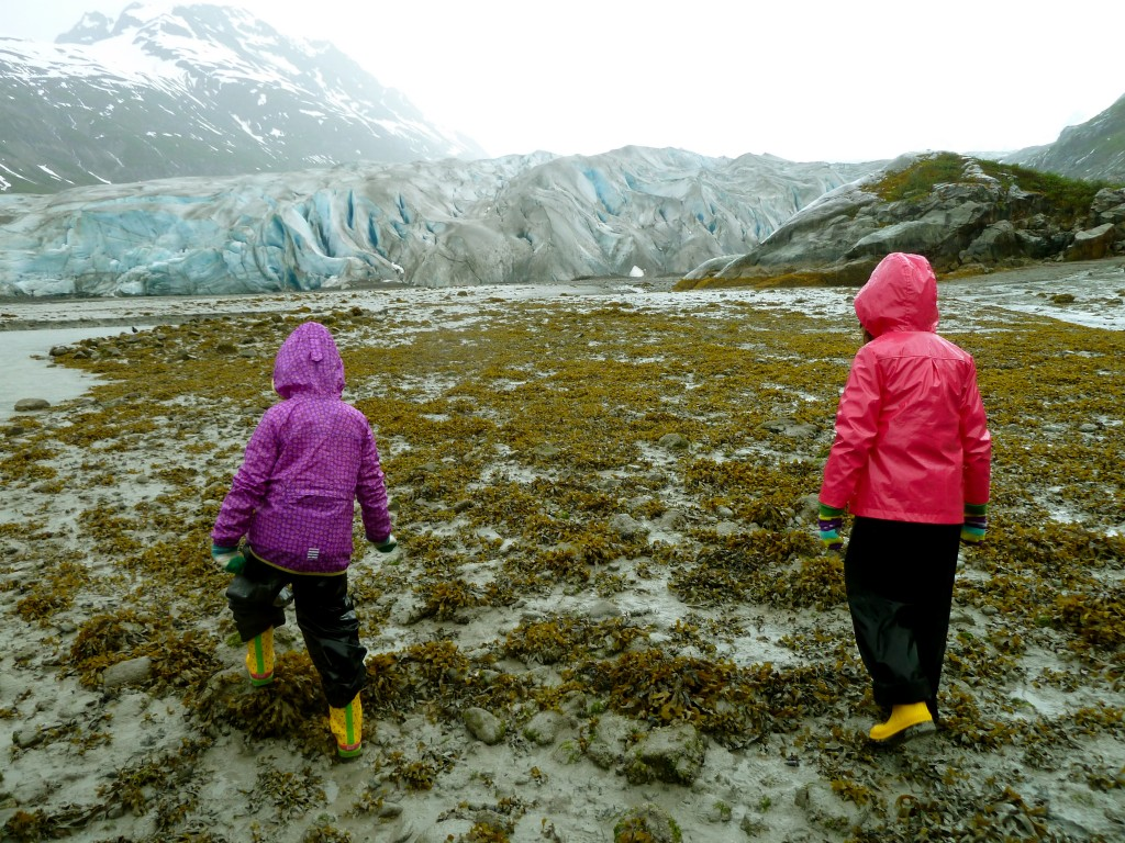 Hiking in Glacier Bay National Park on a rainy Un-Cruise Adventures adventure. Erin Kirkland/AKontheGO