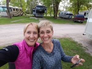 It's not every day I get to see a best friend. Getting together at the Minneapolis Northwest KOA. Erin Kirkland /AKontheGO