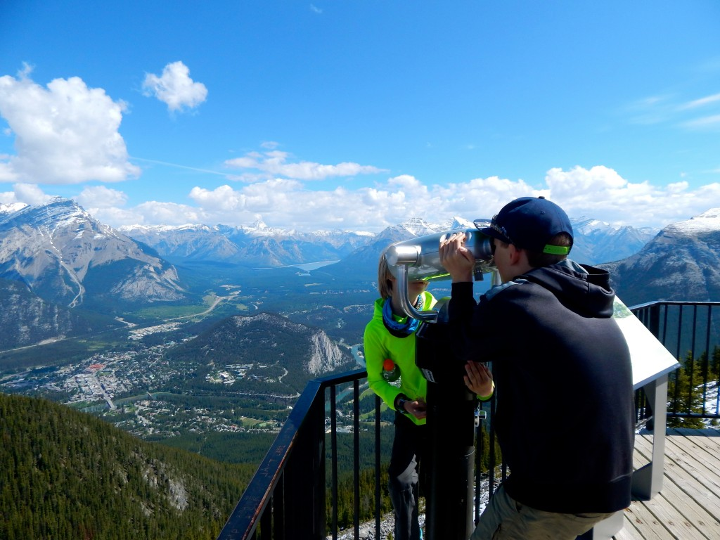 Peering down to the town of Banff from atop the Sunshine Gondola stop. Erin Kirkland/AKontheGO