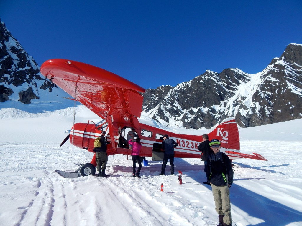K2 Aviation provides transportation to and from the Mountain House via Ruth Glacier. Erin Kirkland/AKontheGO