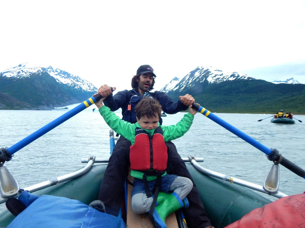 Chugach Adventures owner Ari Stiassney and his son, Col, navigate Spencer Lake together. Erin Kirkland/AKontheGO