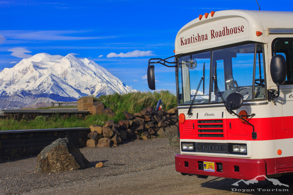 The Kantishna Wilderness Trails Bus Tour gives kids 6-12 a FREE ride with their parents. Image courtesy Kantishna Wilderness Trails