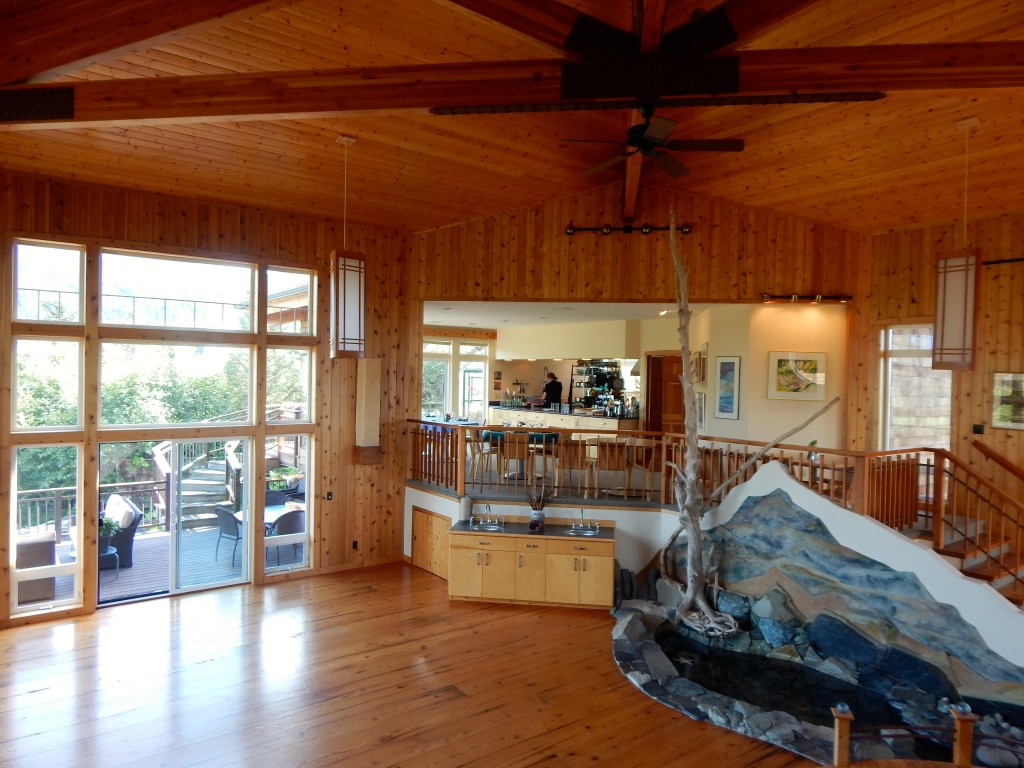 Interior view of Stillpoint's main lodge. Erin Kirkland/AKontheGO