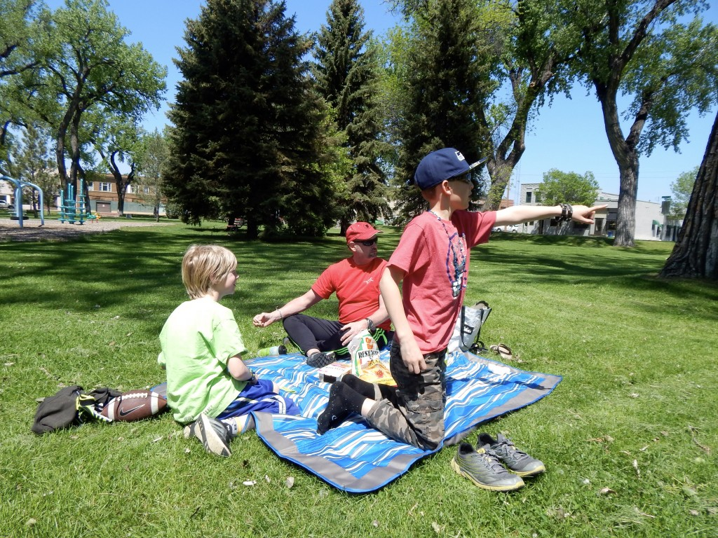 Much of our lunch breaks were taken in picnic form, at local parks, where the kids could play and meet up with local youngsters. Erin Kirkland/AKontheGO