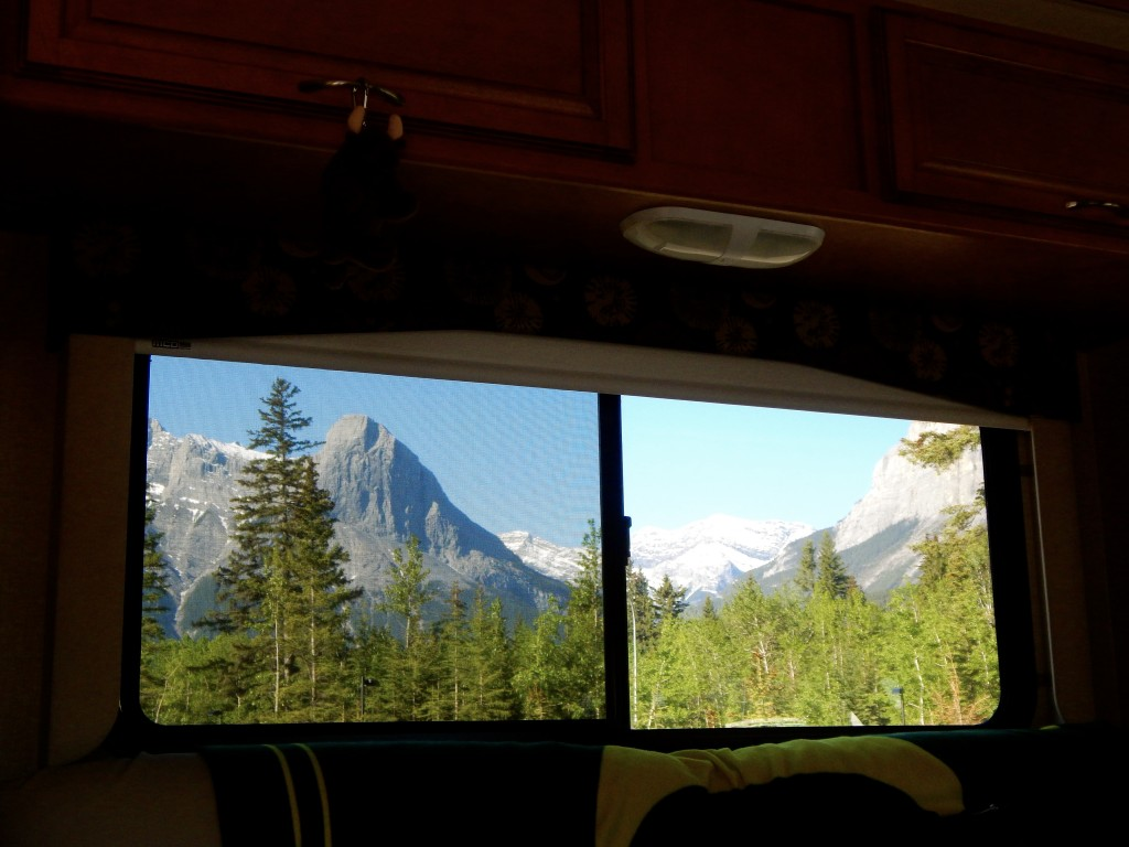 The view. The incredible, wondrous view from our RV window. Erin Kirkland/AKontheGO